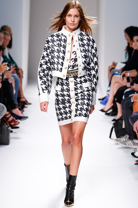Balmain, Spring/Summer 2014, Look 7 Photo: Monica Feudi/FeudiGuaineri.com found on www.style.com