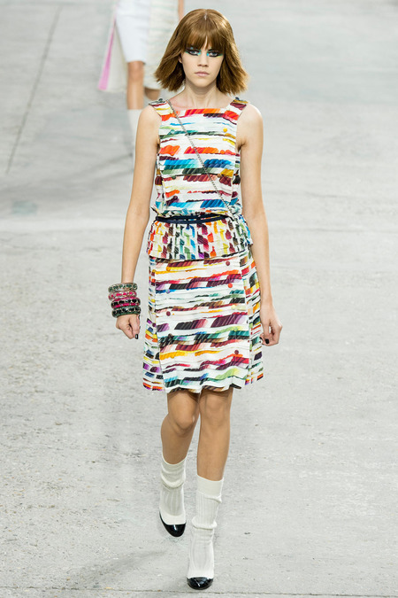 Chanel, Spring/Summer 2014 Collection, Look 79 Photo: Yannis Vlamos/Indigitalimage.com found on www.style.com