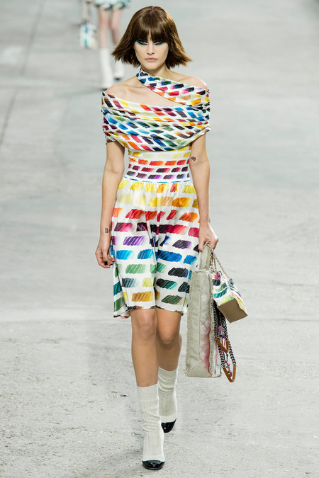 Chanel, Spring/Summer 2014 Collection, Look 80 Photo: Yannis Vlamos/Indigitalimage.com found on www.style.com