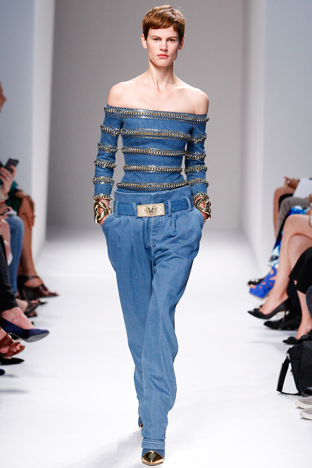 Balmain, Spring/Summer 2014, Look 8 Photo: Monica Feudi/FeudiGuaineri.com found on www.style.com
