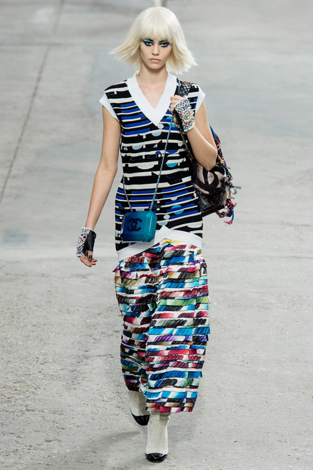 Chanel, Spring/Summer 2014 Collection, Look 85 Photo: Yannis Vlamos/Indigitalimage.com found on www.style.com