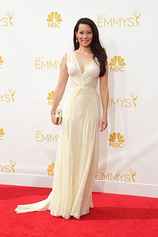 Lucy Liu in Zac Posen Photo: Getty Images found on www.style.com