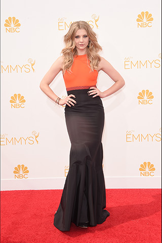 Natalie Dormer in J. Mendel Photo: Getty Images found on www.style.com
