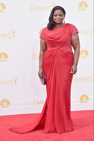 Octavia Spencer in Tadashi Shoji Photo: Getty Images found on www.style.com