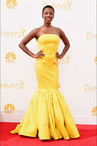 Samira Wiley in Christian Siriano Photo: Getty Images found on www.style.com