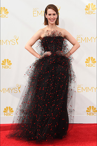 Sarah Paulson in Armani Prive  Photo: Getty Images found on www.style.com