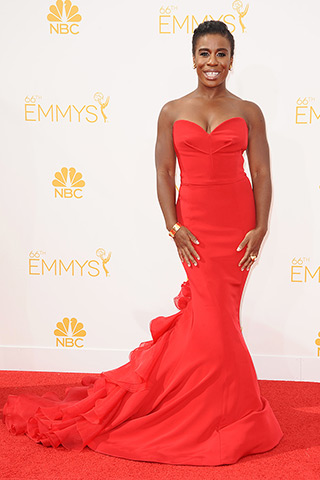 Uzo Aduba in Christian Siriano Photo: Getty Images found on www.style.com