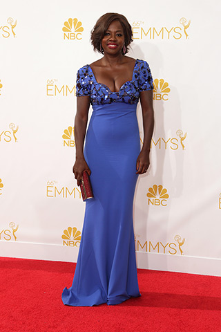 Viola Davis in Escada Photo: Getty Images found on www.style.com
