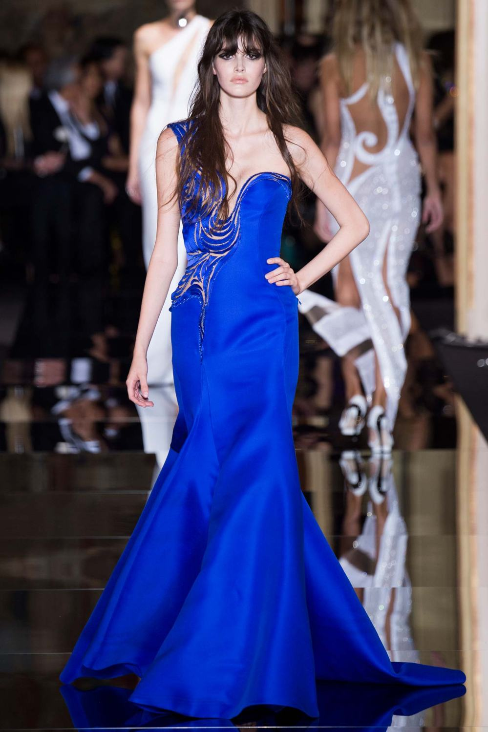 Atelier Versace, Spring/Summer 2015 Look 42 Model : Vanessa Moody Photo: Kim Weston Arnold/Indigitalimages.com